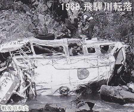 Busulykken i Hida-floden i 1968