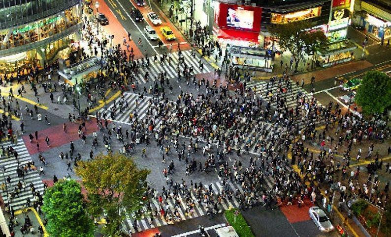 Fodgængerfeltet i Shibuya