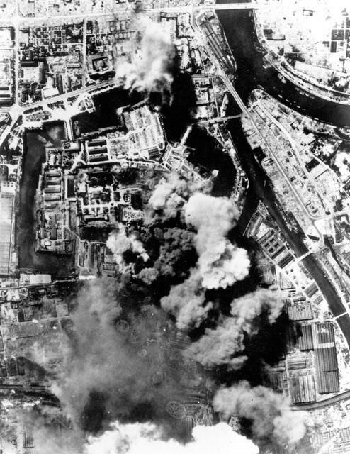 Bombetogterne i Osaka