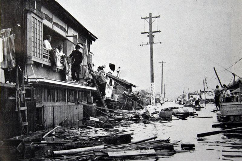 Tyfonen Vera i 1959