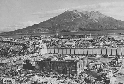 Bombetogterne i Kagoshima