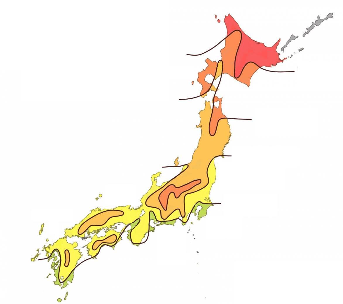 Hvornår skifter bladene farve i Japan?