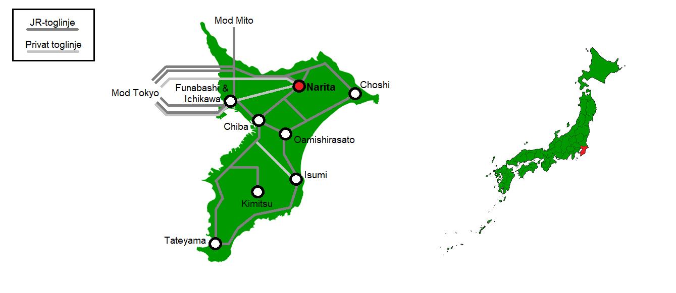 Narita og omegn