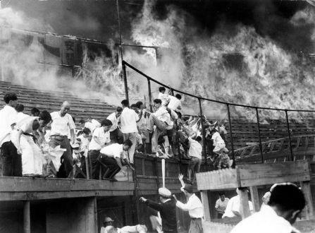 Branden på Chuunichi Stadion