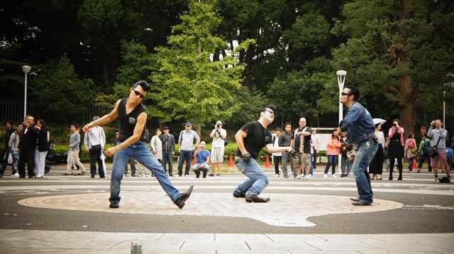 Elvis-danserne i Yoyogi Park