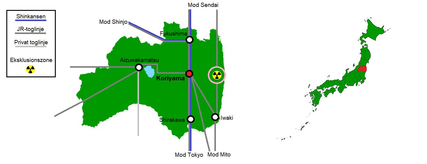 Koriyama og omegn