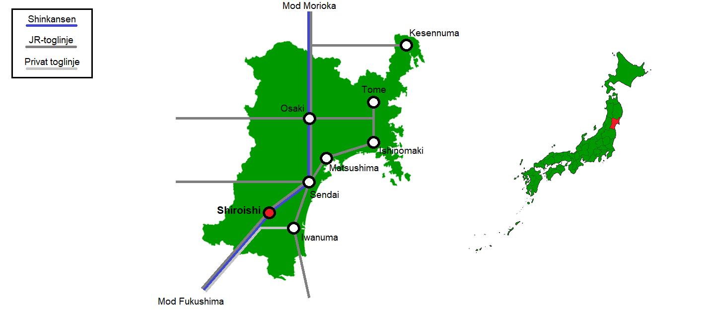 Shiroishi og omegn