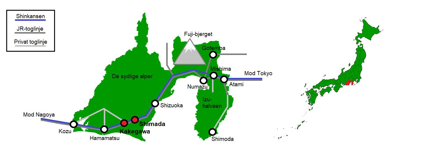 Kakegawa og Shimada