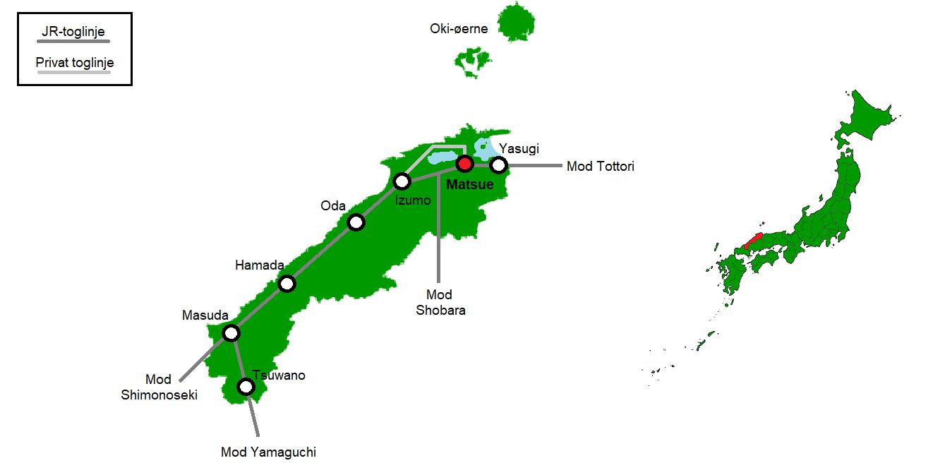 Matsue og omegn