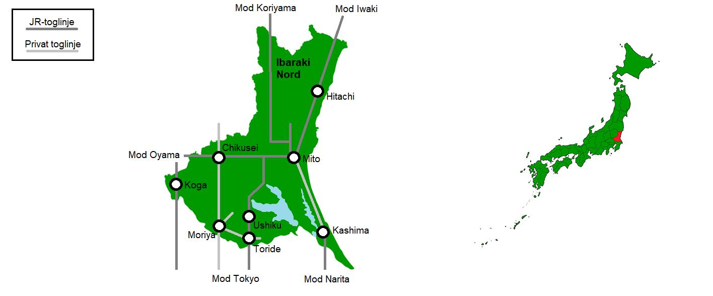 Det nordlige Ibaraki