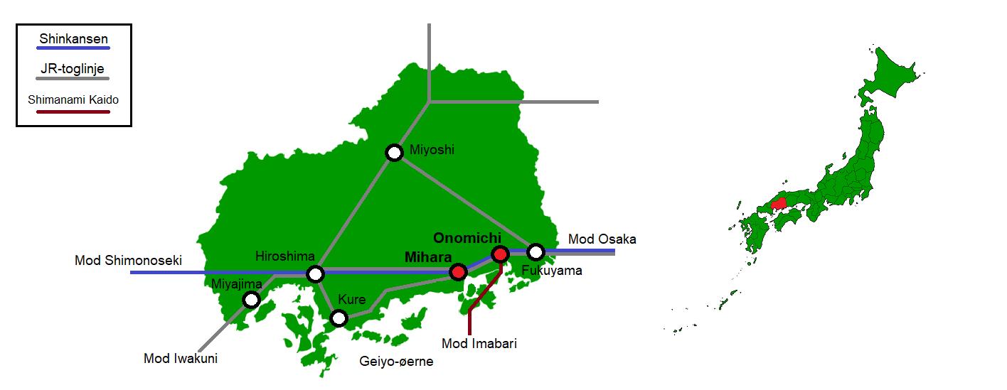 Onomichi og Mihara