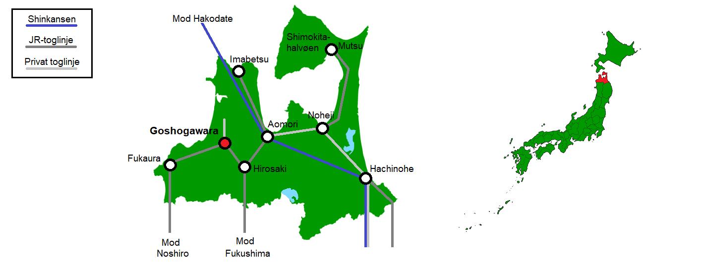 Goshogawara og omegn